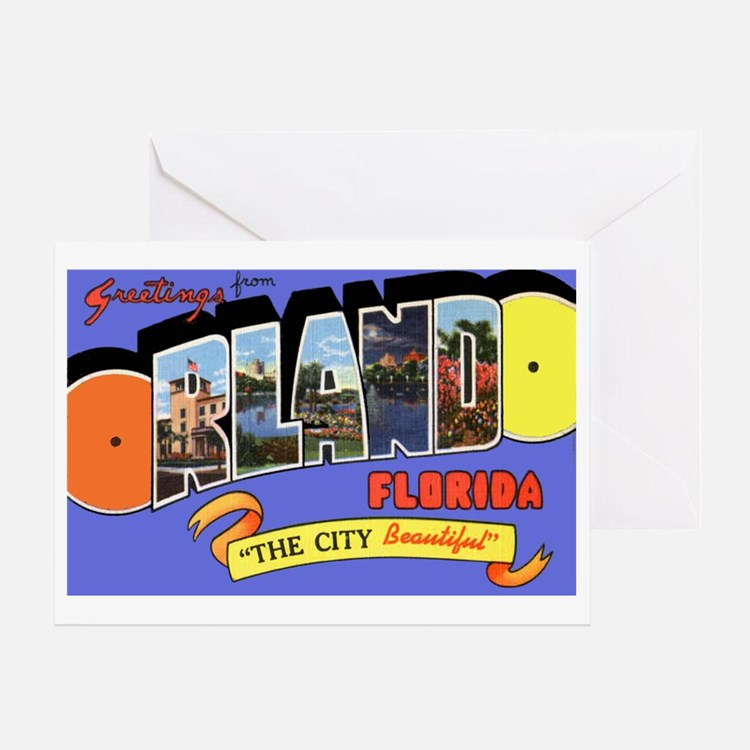 Orlando Florida Greetings Greeting Card