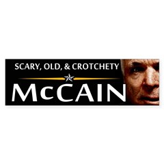Scary, Old, & Crotchety Bumper Bumper Sticker