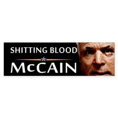 Shitting Blood Bumper Bumper Sticker