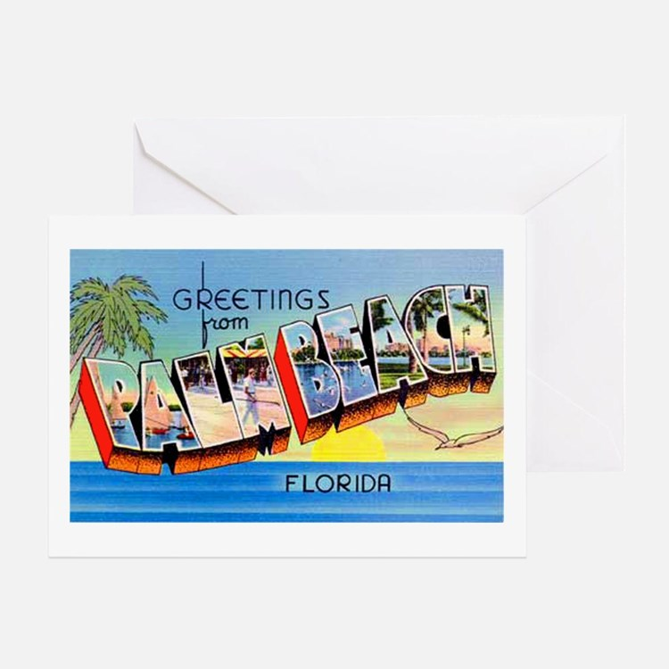 Palm Beach Florida Greetings Greeting Card