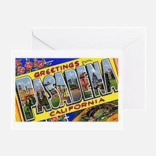 Pasadena California Greetings Greeting Card