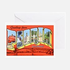Peoria Illinois Greetings Greeting Card