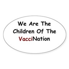 Children Of VacciNation Oval Decal