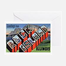 Rock Island Illinois Greeting Greeting Card
