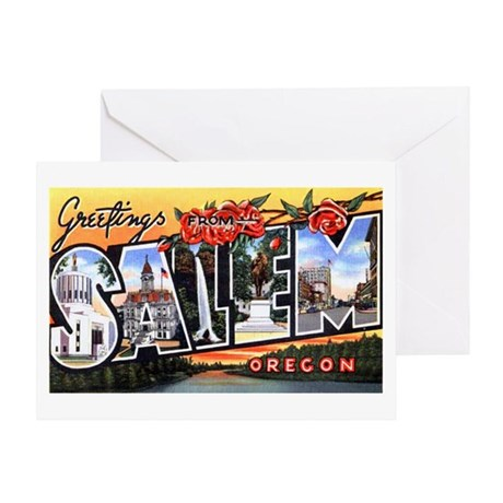 Salem Oregon Greetings Greeting Card