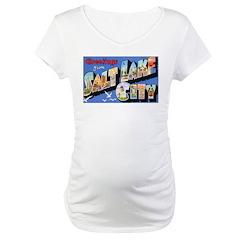 Salt Lake City Utah Greetings Maternity T-Shirt