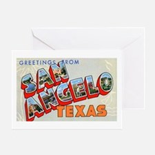 San Angelo Texas Greetings Greeting Card