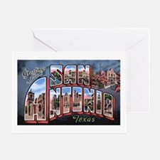 San Antonio Texas Greetings Greeting Card