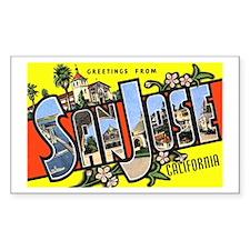 San Jose California Greetings Rectangle Sticker 1
