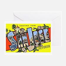 San Jose California Greetings Greeting Card