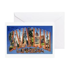 Savannah Georgia Greetings Greeting Card