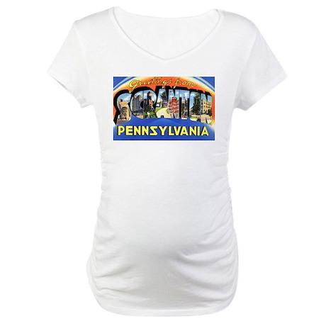 Scranton Pennsylvania Greetin Maternity T-Shirt