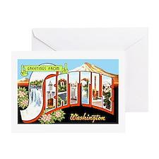 Seattle Washington Greetings Greeting Card