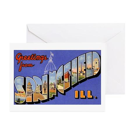 Springfield Illinois Greeting Greeting Cards (Pk o