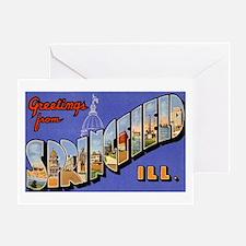 Springfield Illinois Greeting Greeting Card