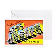 St. Joseph Missouri Greetings Greeting Cards (Pk o