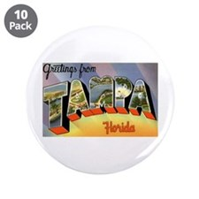 "Tampa Florida Greetings 3.5"" Button (10 pack)"