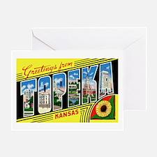 Topeka Kansas Greetings Greeting Card
