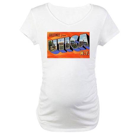 Utica New York Greetings Maternity T-Shirt