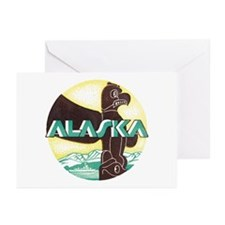 Alaska Totem Pole Greeting Cards (Pk of 20)