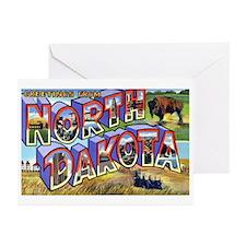 North Dakota Greetings Greeting Cards (Pk of 20)
