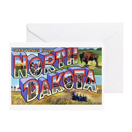 North Dakota Greetings Greeting Card