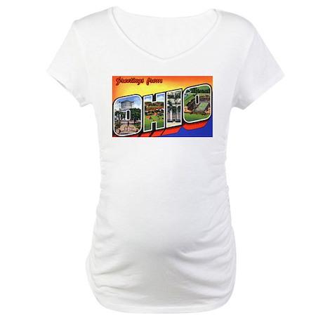 Ohio Greetings Maternity T-Shirt