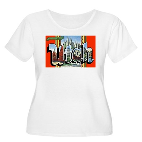 Utah Greetings Women's Plus Size Scoop Neck T-Shir