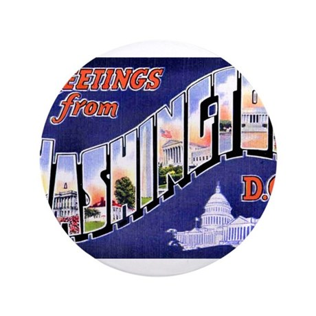 "Washington, D.C. Greetings 3.5"" Button"