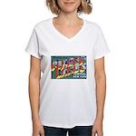Finger Lakes New York Women's V-Neck T-Shirt