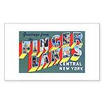 Finger Lakes New York Rectangle Sticker 10 pk)