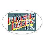 Finger Lakes New York Oval Sticker (10 pk)