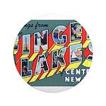 "Finger Lakes New York 3.5"" Button"