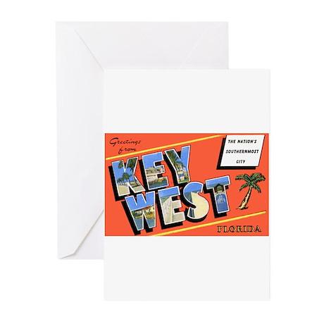 Key West Florida Greetings Greeting Cards (Pk of 2