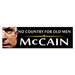 No Country For Old Men McCain Bumper Bumper Sticker