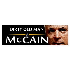 Dirty Old Man Bumper Bumper Sticker