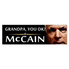 Grandpa, You OK? Bumper Bumper Sticker