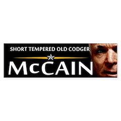 Short Tempered Old Codger Bumper Bumper Sticker