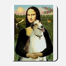 Mona & her Borzoi Mousepad
