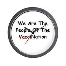 People Of VacciNation Wall Clock