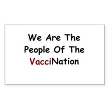 People Of VacciNation Rectangle Sticker 10 pk)