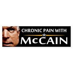Chronic Pain With McCain Bumper Bumper Sticker