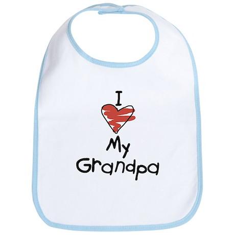 I Love My Grandpa Bib