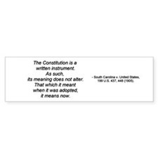 Constitution - 1905 Bumper Sticker (10 pk)