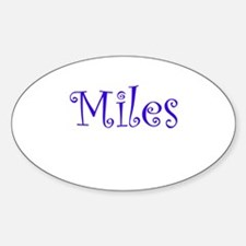 MILES Oval Decal