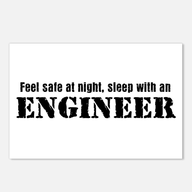 Feel Safe with an Engineer Postcards (Package of 8