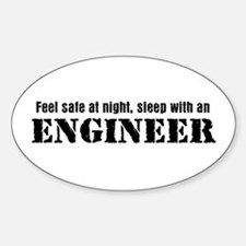 Feel Safe with an Engineer Oval Bumper Stickers