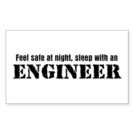 Feel Safe with an Engineer Rectangle Sticker
