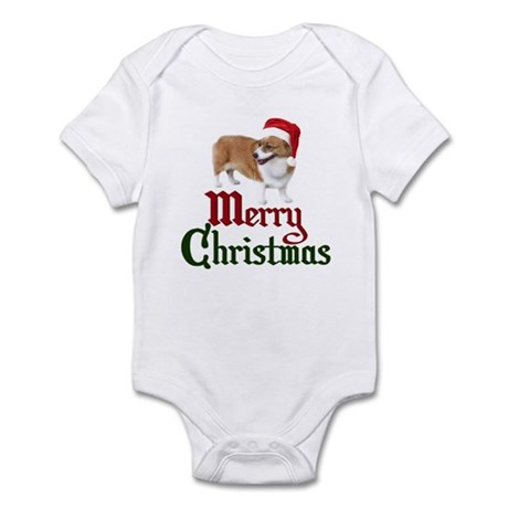 Christmas Corgi Infant Bodysuit