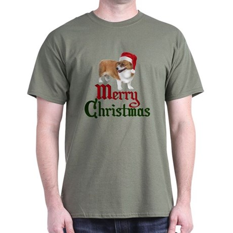 Christmas Corgi Dark T-Shirt